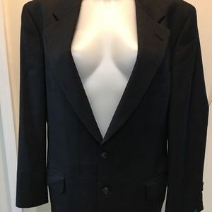 Vintage Burberry Wool 2 Button Sport Coat Blazer